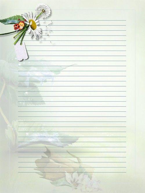 Papier à lettre à imprimer - Minouchapassion