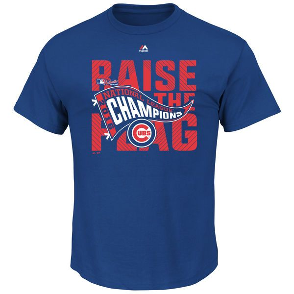 Chicago Cubs Majestic 2016 National League Champions Locker Room T-Shirt - Royal