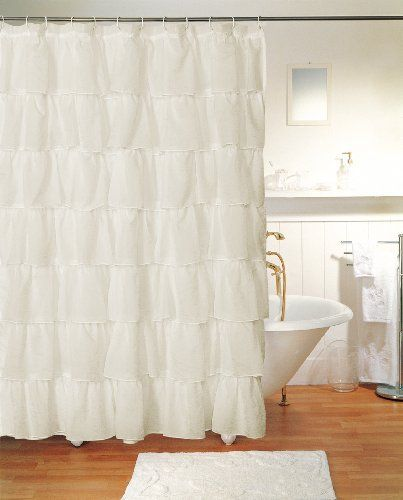 Linen Lorraine Home Fashions: Gypsy Ruffled Shower Curtain Cream By Lorraine Home