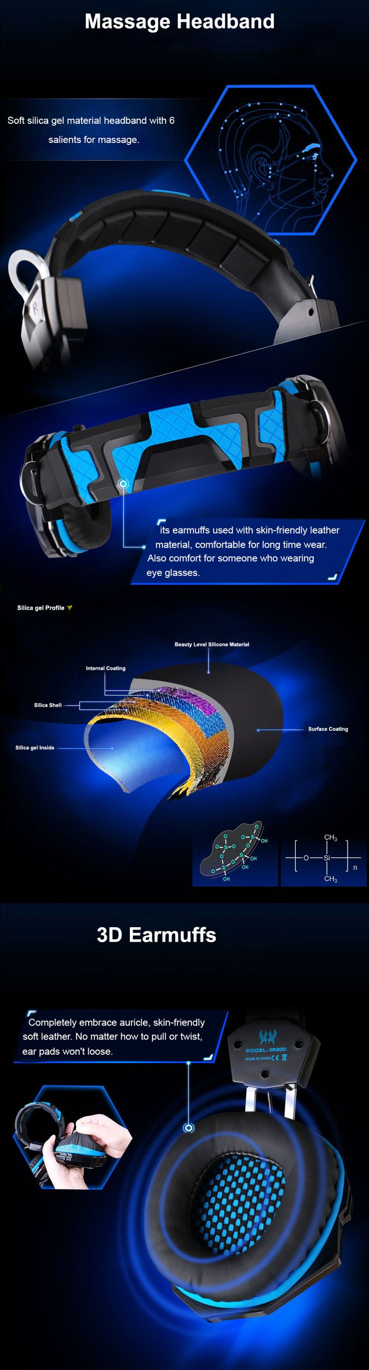 EACH G5200 7.1 Surround Sound Headphone Computer Gaming Casque audio Headset with Mic Vibration LED Light For PS3 PC Gamer | #HeadphonesGaming