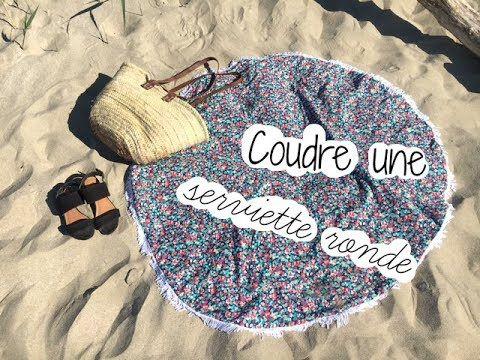 Tuto couture : serviette ronde. Apprendre à coudre une serviette de plage