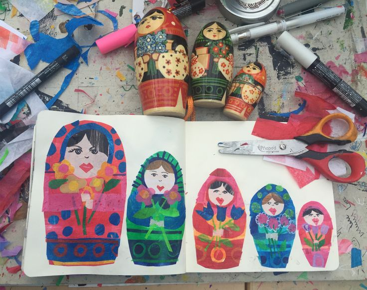 Russian Dolls by Tracey English www.tracey-english.co.uk