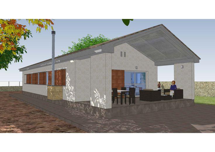 Ideas de exterior porche estilo tradicional color beige marron gris dise ado por - Miguel angel casas ...