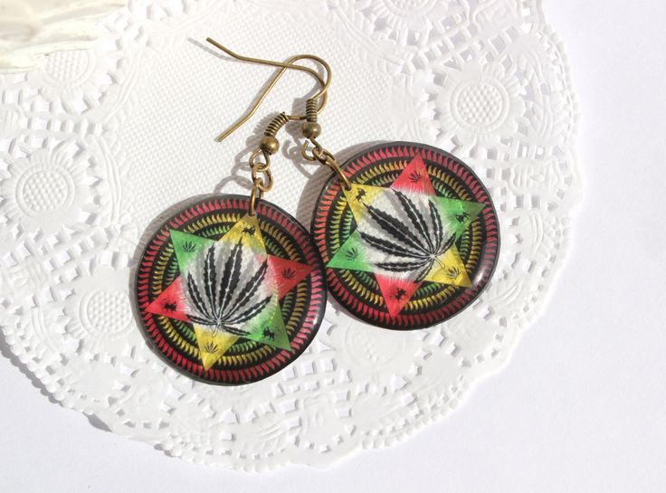 A personal favourite from my Etsy shop https://www.etsy.com/listing/227833623/transparent-earrings-colorful-earrings