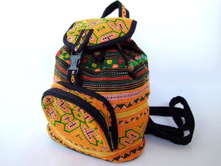Grande zaino, ricamato, lavoro manuale di Siamrose Art & Decor su DaWanda.com