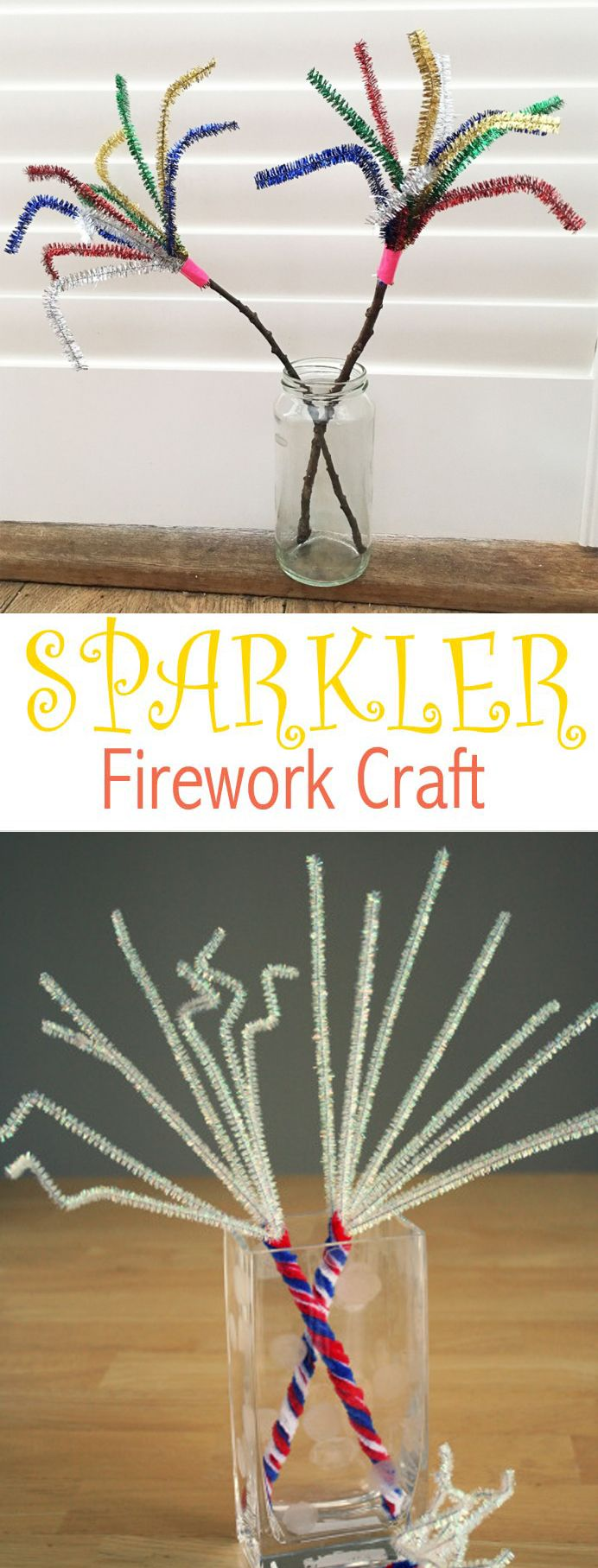 Sparkler Firework Craft For Kids