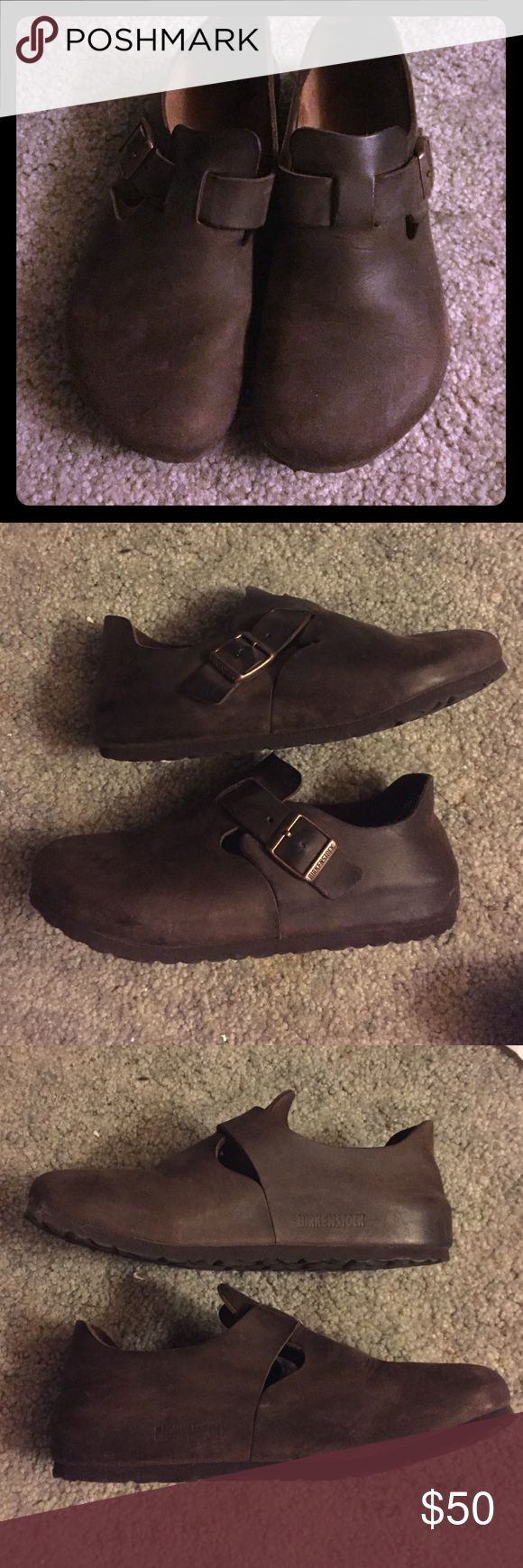 Birkenstock London - Brown Oiled Leather Super comfy Birkenstock London  shoes only worn a dozen times