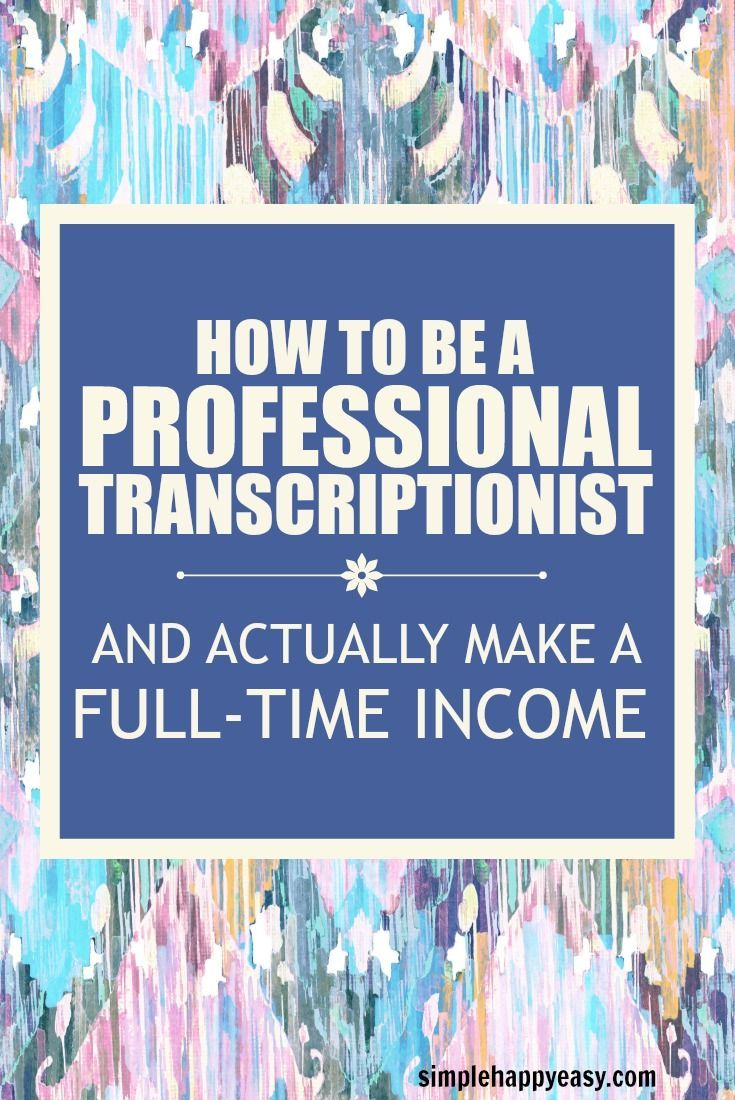 How To Be A Professional Transcriptionist And Actually Make An Income. If you are serious about building a successful business from home - check this out! Not all work-at-home jobs are the same. While there are some that are legitimate side hustles that you can use to make some extra money each month or add to your emergency fund and ease up the stress on your monthly budget - not all of them fit this description. Some work-at-home jobs are actual companies that you start and build your…