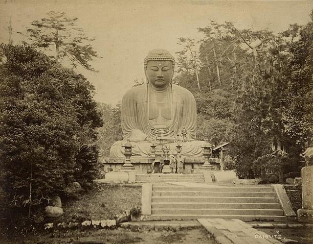 The large Buddha (Daibutsu), bronze statue, 13th century, part of the Kotoku-in complex in Kamakura, Kanagawa.  around 1868-1895].