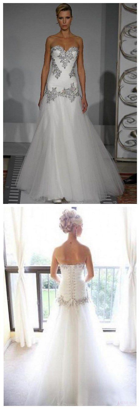 New Design Sweetheart Mermaid Floor-length Appliques Wedding Dresses (WD0070)