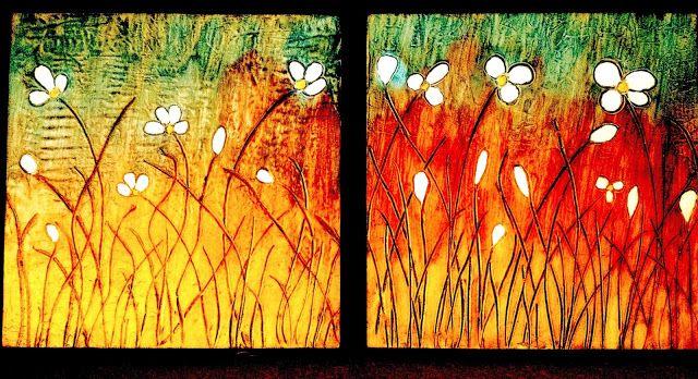 Cosmos Mixed Media on Wooden Canvas @The Art of Creativity Studio