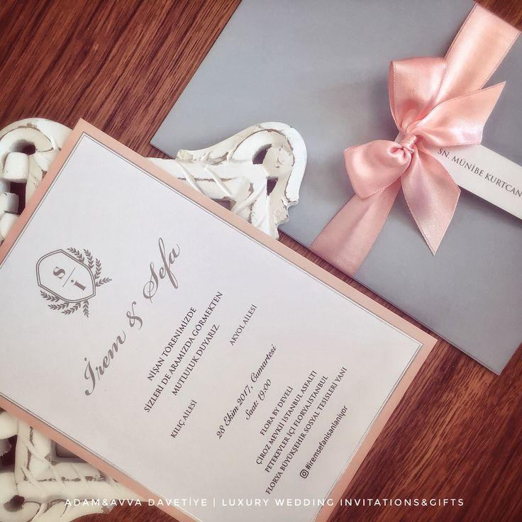 Düğün Davetiyesi - Somon&Gri