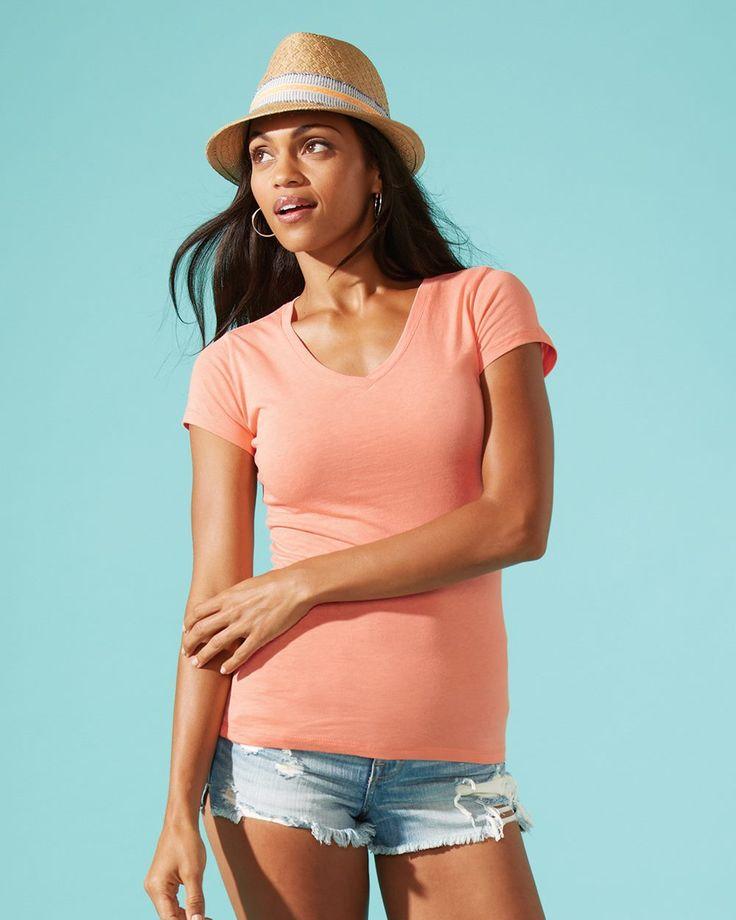 Next Level - Ladies' Sporty V-neck Blank T-Shirt - 3400L (32691)
