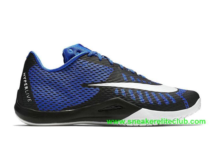 hot sale online f8e1c b79ad Nike HyperLive EP Homme Pas Cher Noir Bleu Blanc 820284 400-1603161962 - Chaussure  Nike BasketBall ...