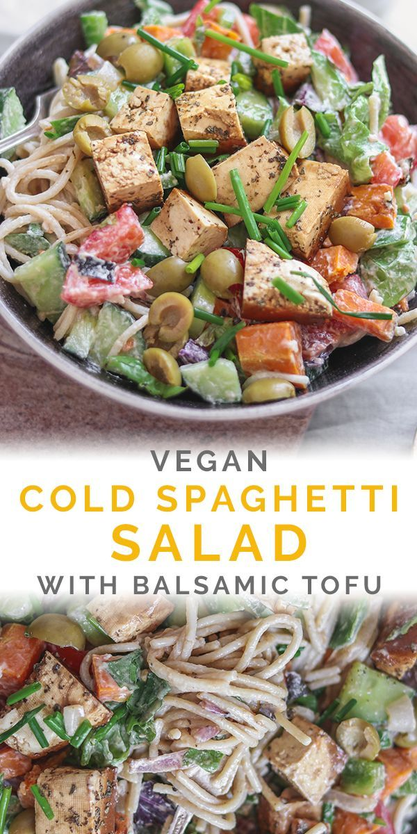 Cold Spaghetti Salad With Balsamic Tofu