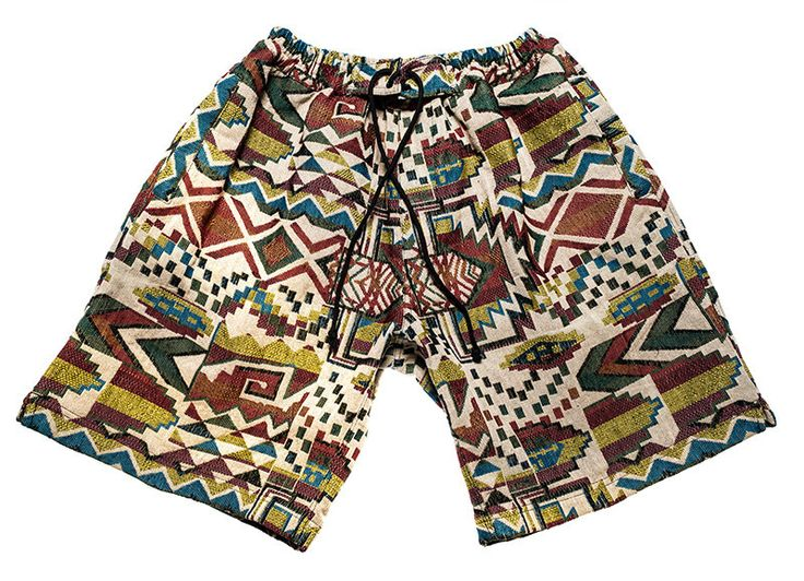 Surfer / bohemian shorts for Men in fantastic inca pattern / colors by Aviimade on Etsy