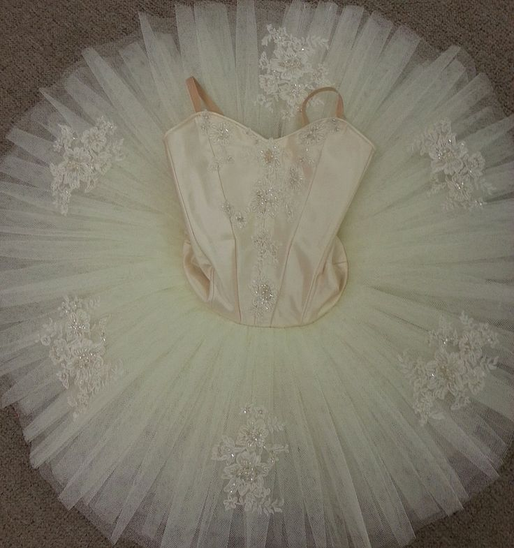 Classic Cream Tutu embellished with embroidered beaded lace