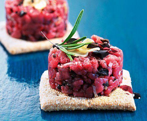 Tartare di manzo alle olive e al vino rosso   | Saison