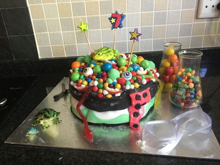 Science birthday cake for Jacks 7th