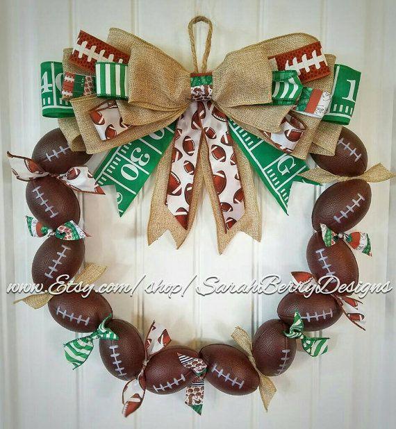 Football Wreath Perfect decor for avid fans NFL Football