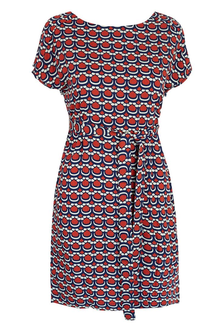 Totem - Papina Dress in Vadadero Red with Waist Tie