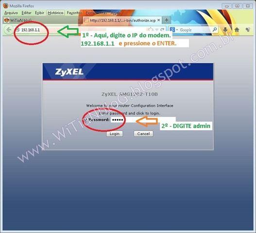 Como configurar o modem roteador WiFi ZyXEL AMG1202-T10B – Rotear para Oi Velox com configuração automática. Internet Site,  Website, Web Site