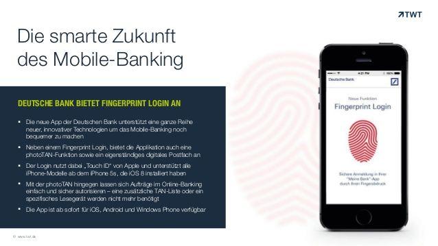 TWT Trendradar: Deutsche Bank bietet Fingerprint Login an