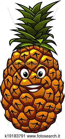 divertimento, cartone animato, tropicale, ananas, frutta Visualizza la Grafica Clip Art ingrandita