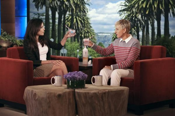 BethennyFrankel on The Ellen Show drinking Skinnygirl Tangerine Dream Cocktail