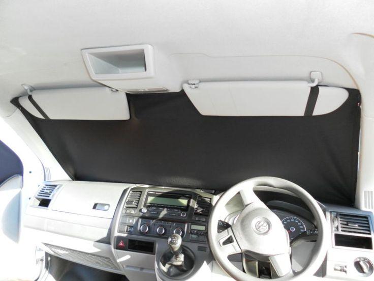 VW T5 Transporter Screen Curtains, Campervan Curtains, Cab Blinds, 3 Piece Set
