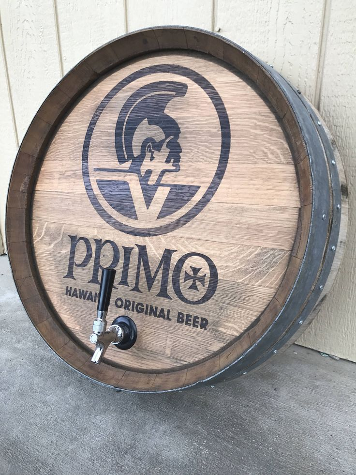 A personal favorite from my Etsy shop https://www.etsy.com/listing/527355595/custom-beer-barrel-head-with-tap