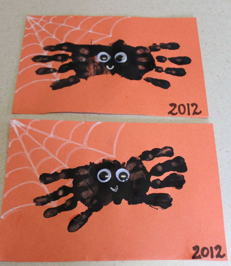Handprint spiders!!