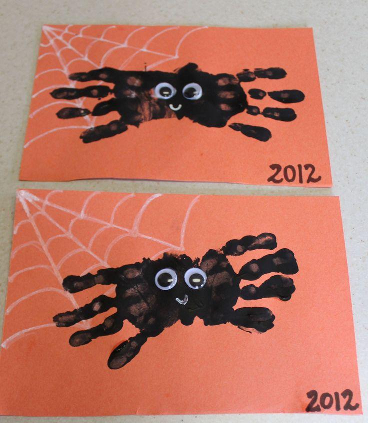 Handprint spiders!!