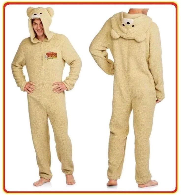Sleepwear and Robes 166697: Ted Costume S Thunder Buddies For Life Union Suit Bear Pajama Halloween Adult -> BUY IT NOW ONLY: $44.99 on eBay!