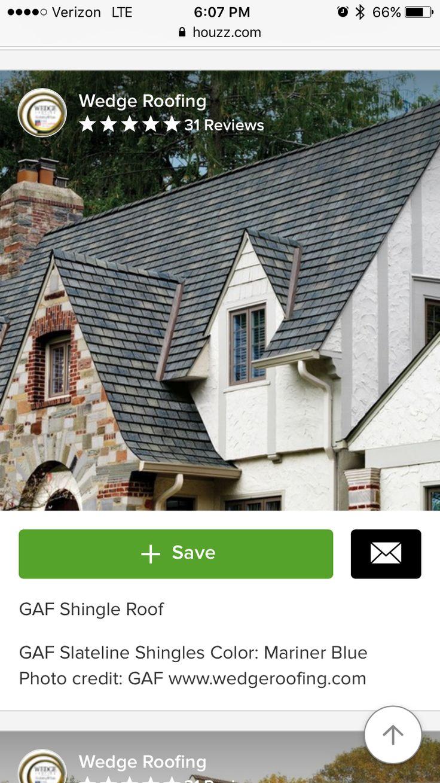 Best Gaf Slateline Mariner Blue With Images Architectural 400 x 300