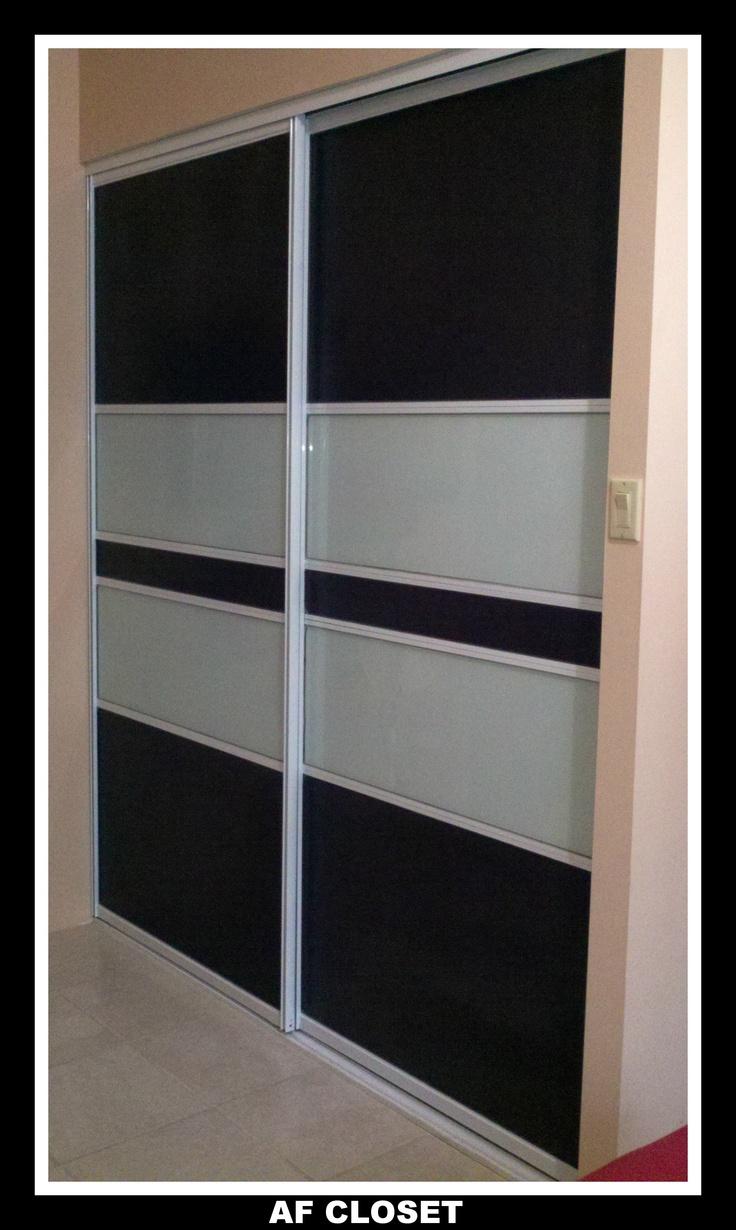 Combinaci n de laminado wenge y cristal leche puertas de closets modernas pinterest - Puertas deslizantes de cristal ...