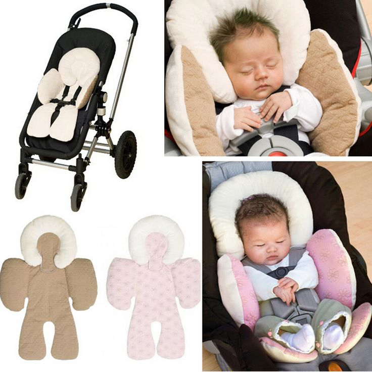 Baby reversible body support cushion for use in car seats and prams. Great for infants. $13.58 from Aliexpress