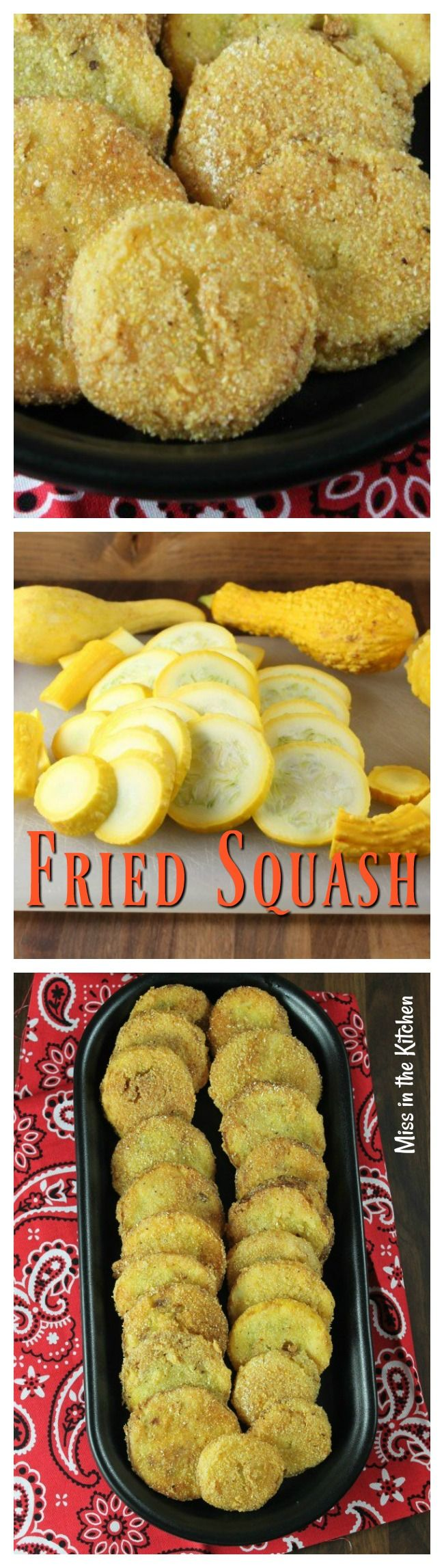 HOW TO MAKE FRIED SQUASH ~ my tried and true recipe for the best fried summer squash! MissintheKitchen.com #squash #fried #deepfried