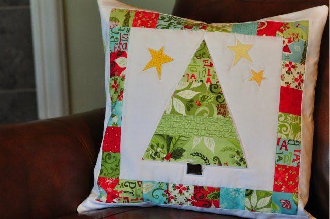 Applique Pillows w/leftover fabric