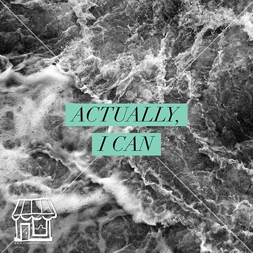 Actually I Can  DIGITAL Artwork Quote by cintarose on Etsy