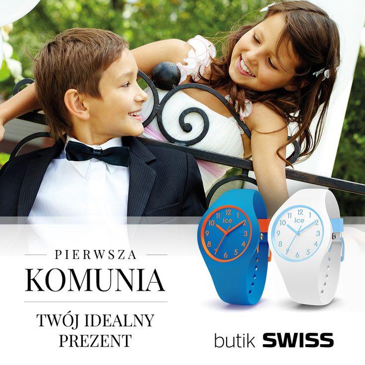 Szukasz idealnego prezentu na pierwszą komunię? U nas znajdziesz cudowną kolekcję zegarków dla dzieci.Spotkajmy się w butiku SWISS! +