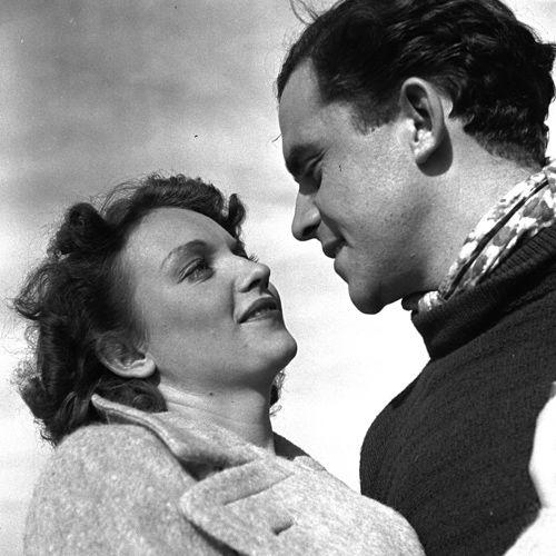 Lau Lauritzen og Lise Thomsen, i Blåvand melder storm fra 1938.