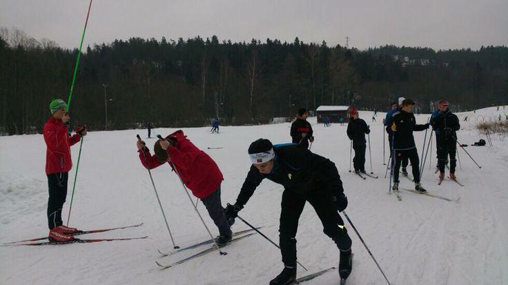 Vg1 idrett - langrennstrening med fokus på staking. Ledet av våre langrennsløpere Fillip, Oscar og Håkon.