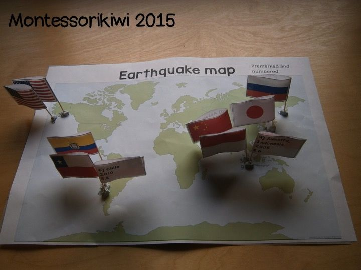 A 3D hands on Earthquake activity where children map the worlds 10 largest earthquakes. Children place a flag onto the location of each of the most major earthquake. Each flag lists how big the Earthquake was, where it happened and the year it happened.