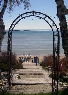 The Beautiful Location Baileys Harbor Hotel Dog Friendly Lodging Beachfront Inn Door County Wisconsins