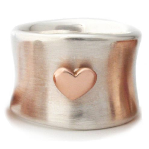 FOR THE GEM IN YOUR LIFE: Blushing Hearts Ring in sterling and rose gold