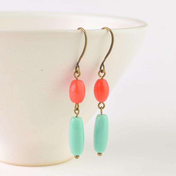 Oorbellen Koraal Munt - Juwelen • Kokette Katinka Online Webshop