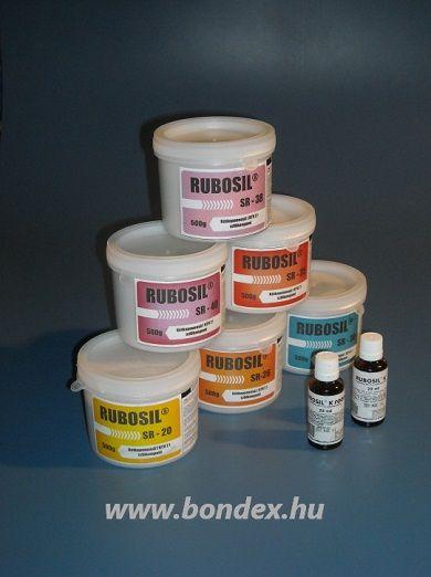 Szobahőmérsékleten vulkanizáló, kétkomponensű önthető szilikon termékcsalád. Rubosil terméket különböző kiszerelésekben.
