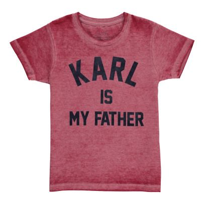 Little Eleven Paris Famkarl Karl Is My Father Burnout T-Shirt-listing