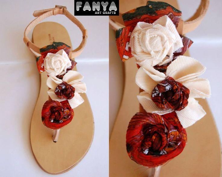 "Handmade sandals ""boho floral"""